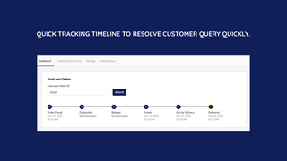 Quick tracking timeline from admin will help you to serve custom