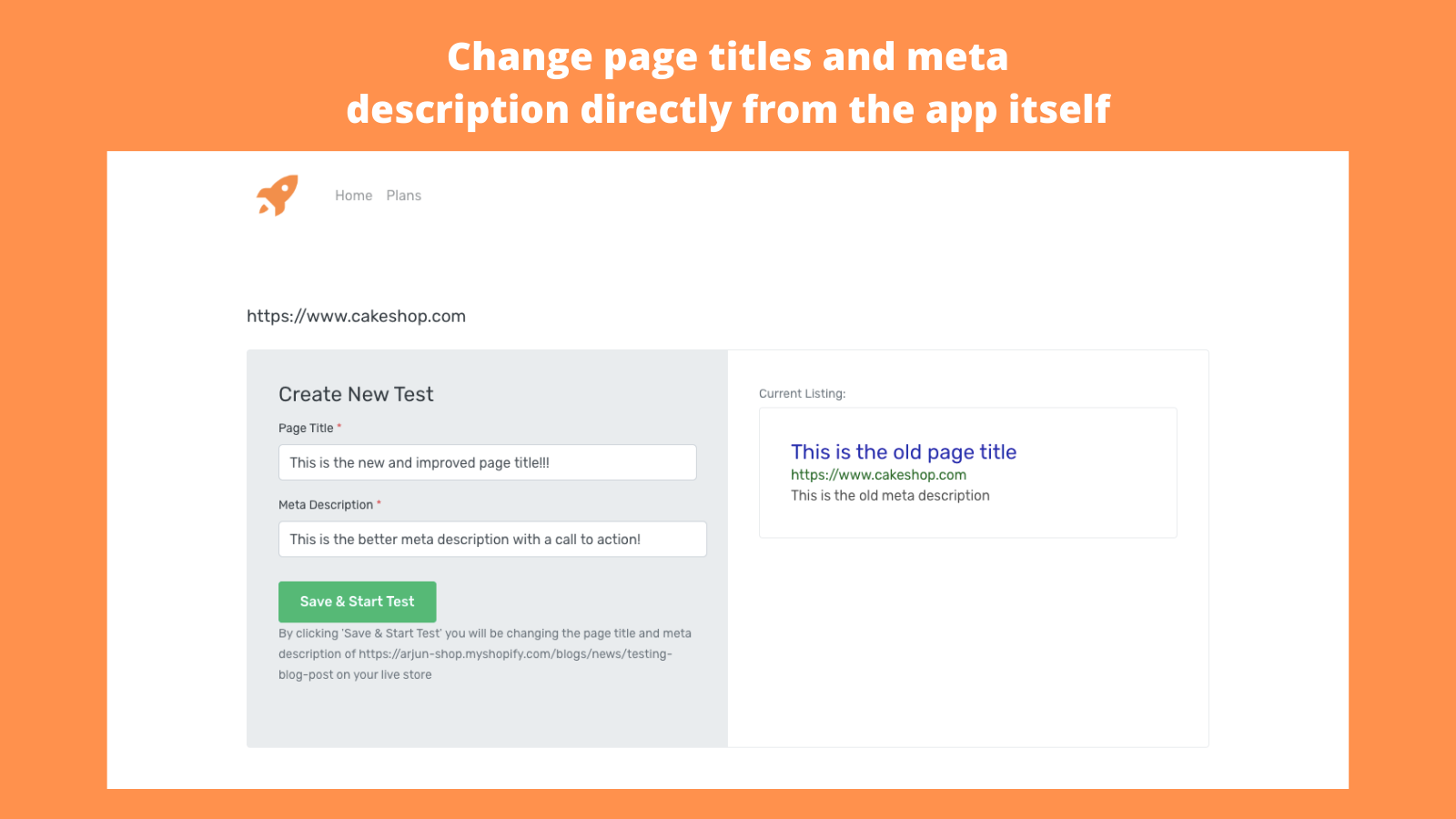 Change Page Title and Meta Description From Admin