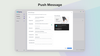 Design push notification