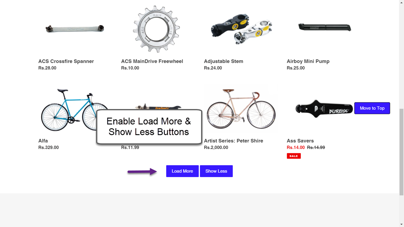 Enable Load More & Show Less Buttons
