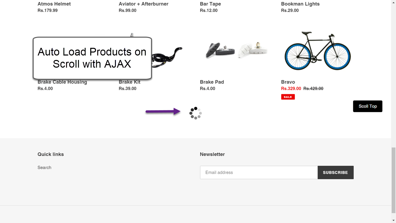 Auto Load Products on Scroll with AJAX
