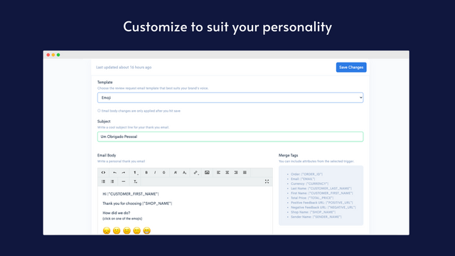 Customize email to suit your personality