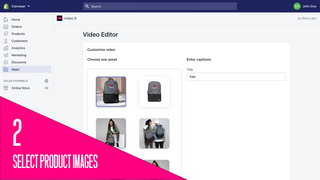 Select images and photos to create your video.