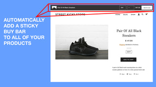 Sticky add to cart button for Shopify, Automatically add to cart