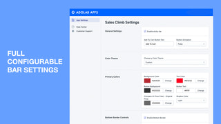 Quick add to cart button with Sales Climb for Shopify Sticky Bar