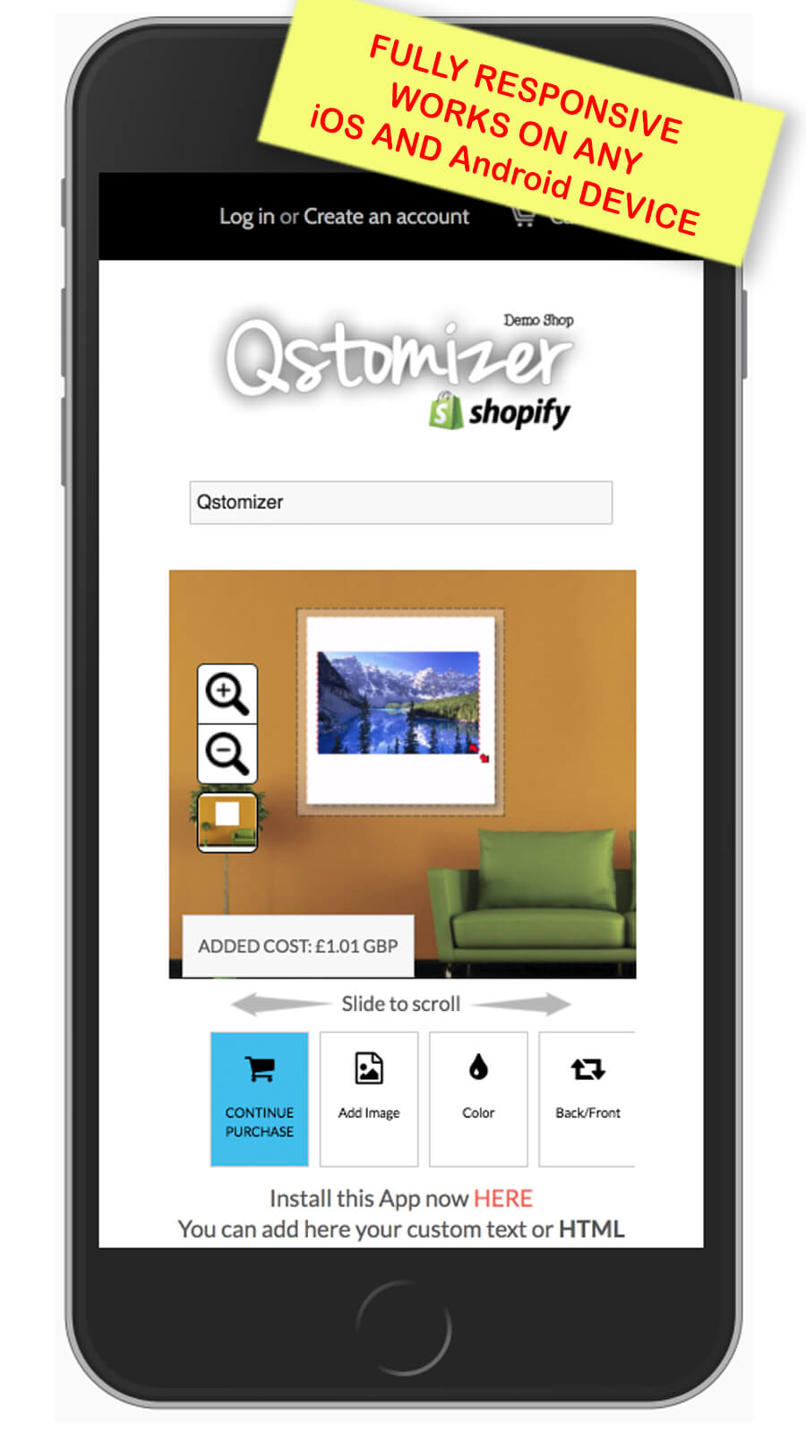 Qstomizer works on any smartphone