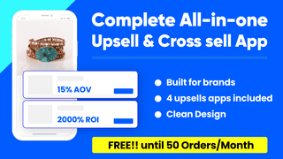 Upsells and Cross sell funnel with personalised recommendations