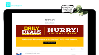 My Cart Upsell | Add Cart Banners to Cart Upsell system