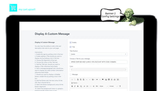 My Cart Upsell | Add Cart Banner 2 Config for Cart Upsell system