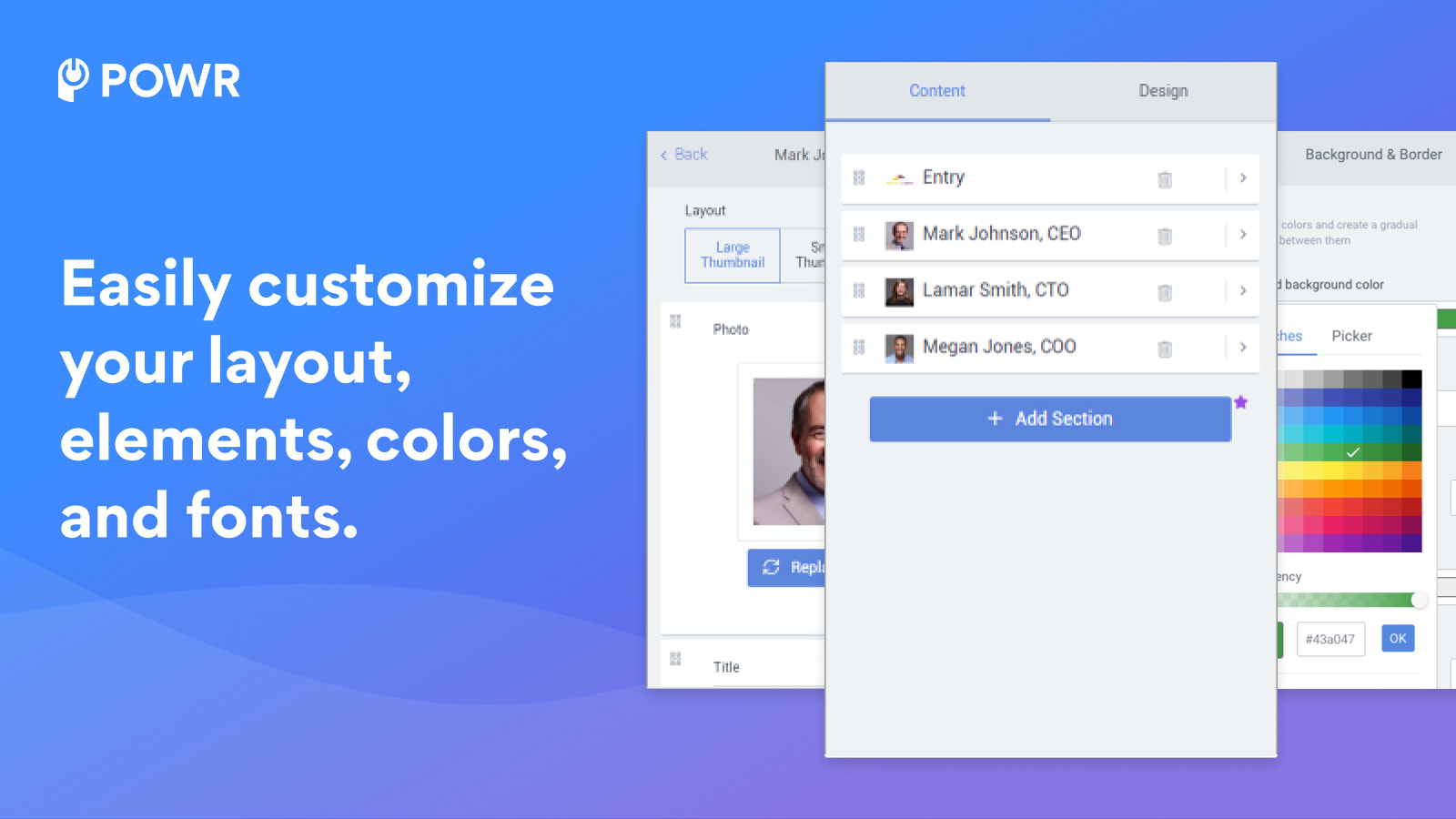 Customize your profile with colors, fonts and more.