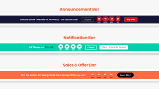 Announcement, Notification & Sale Bar