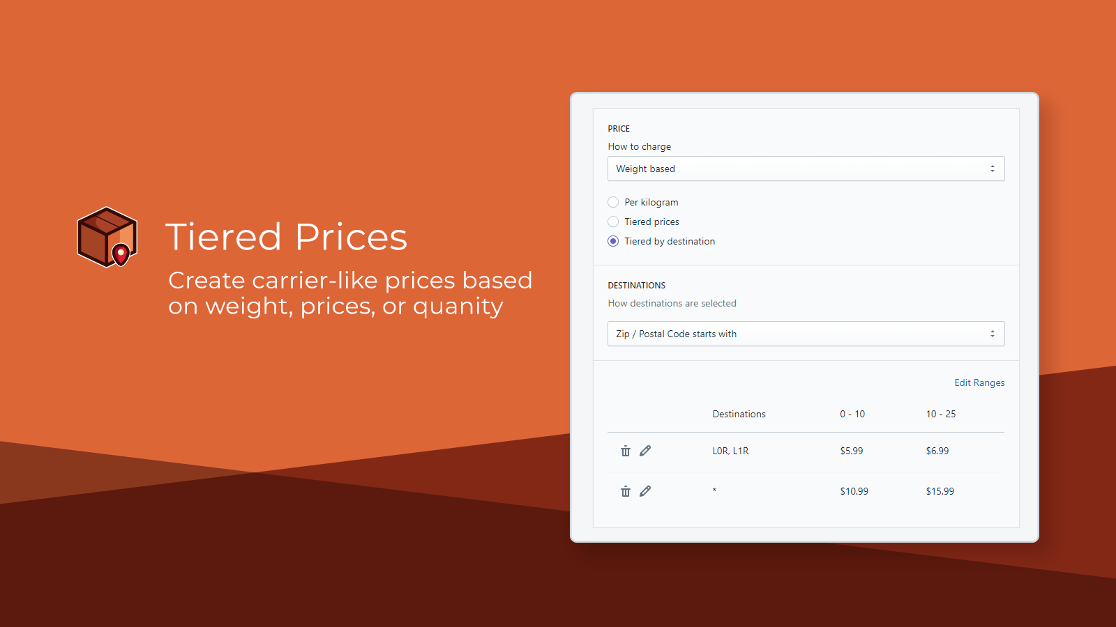 Tiered Prices