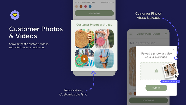 Show photos & videos from your customers.
