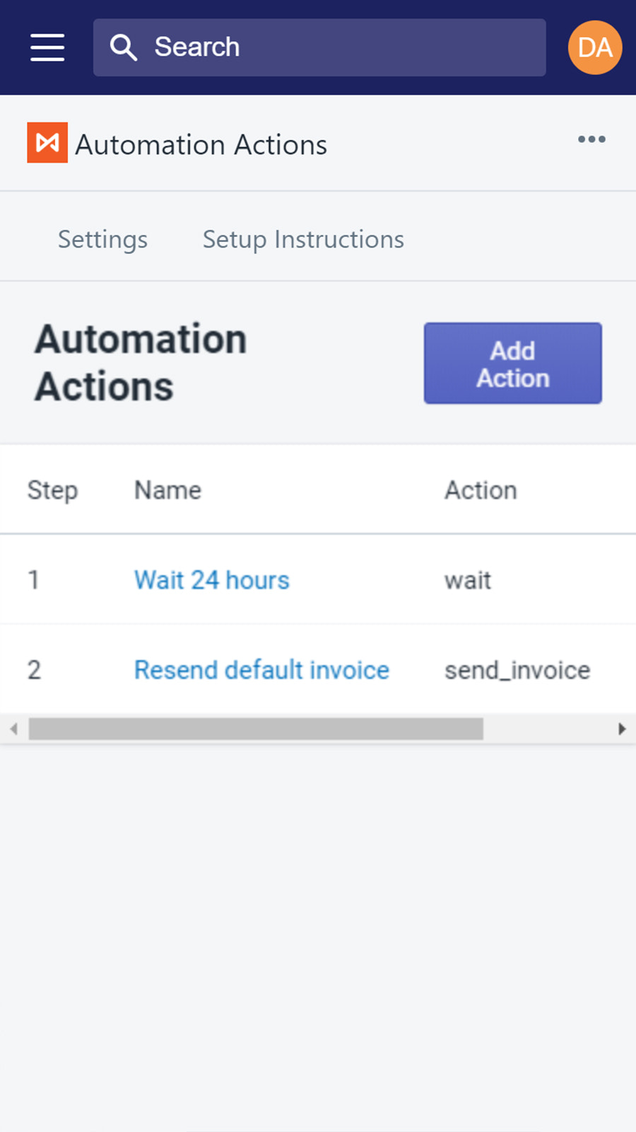 Automation Actions Mobile