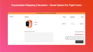 Expandable Shipping Calculator - Great Option For Tight Carts
