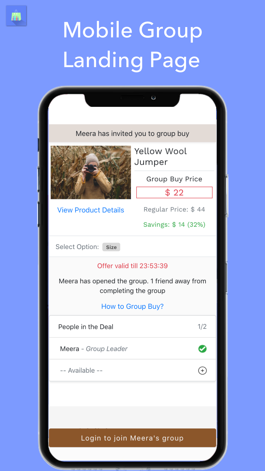 social e-commerce group buying - share deals on whatsapp