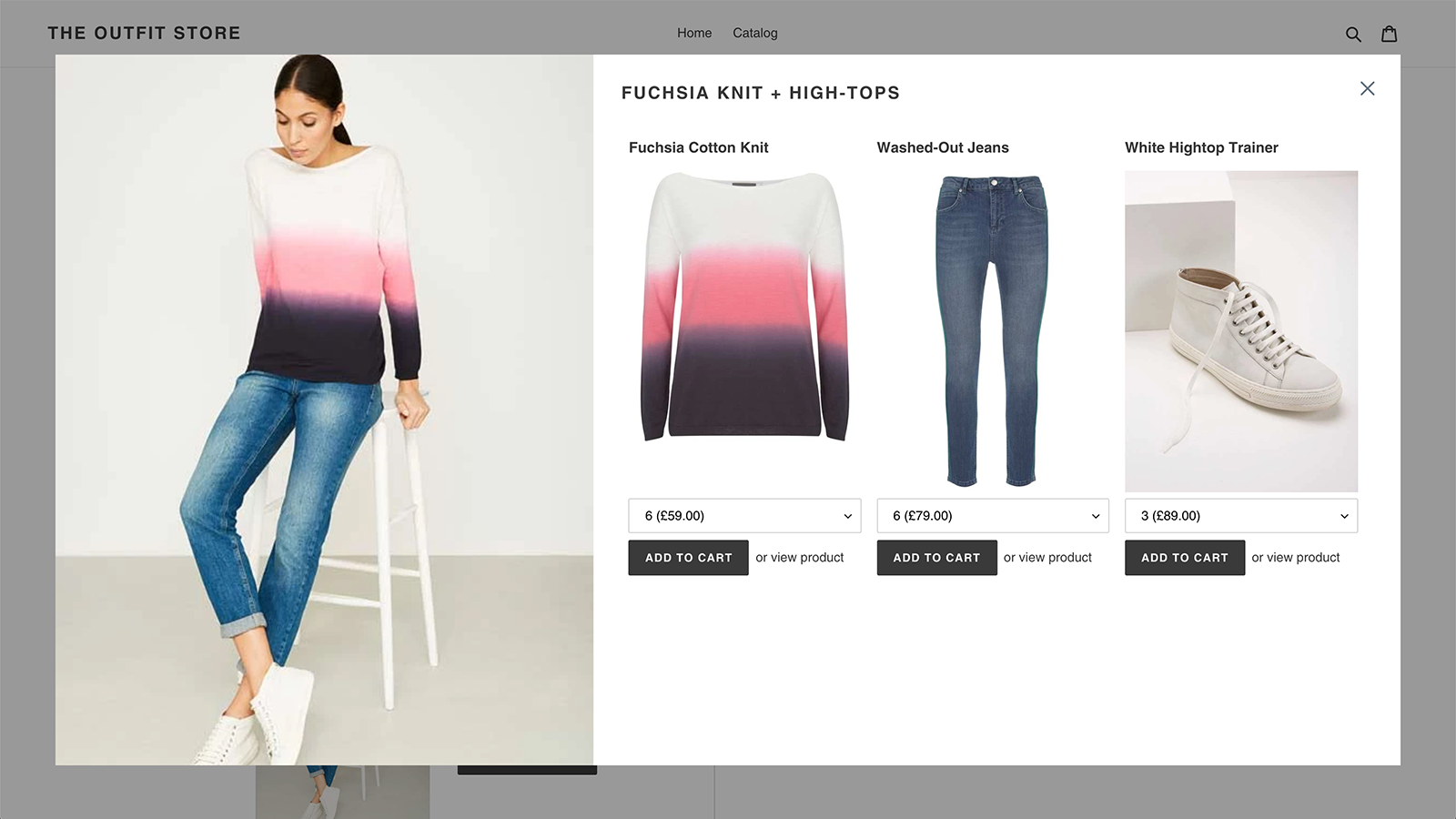 Upsell complimentary items straight from your product pages