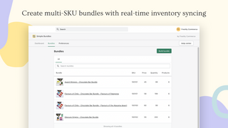 Create multi-SKU bundles with real-time inventory syncing