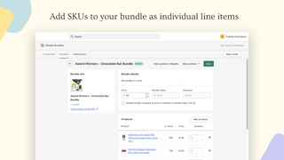 Add SKUs to your bundle as individual line items