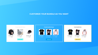 Customize your bundle as you want