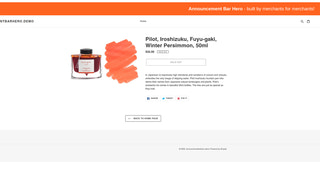 Announcement Bar with right alignment on Product Page