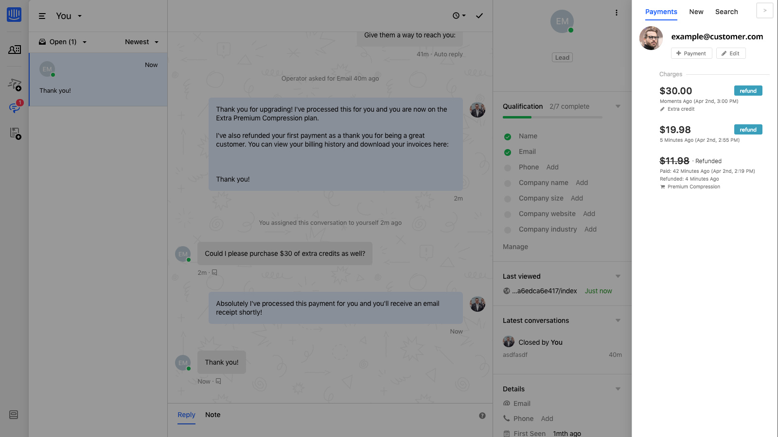 Connect Shopify to Intercom with ChargeDesk