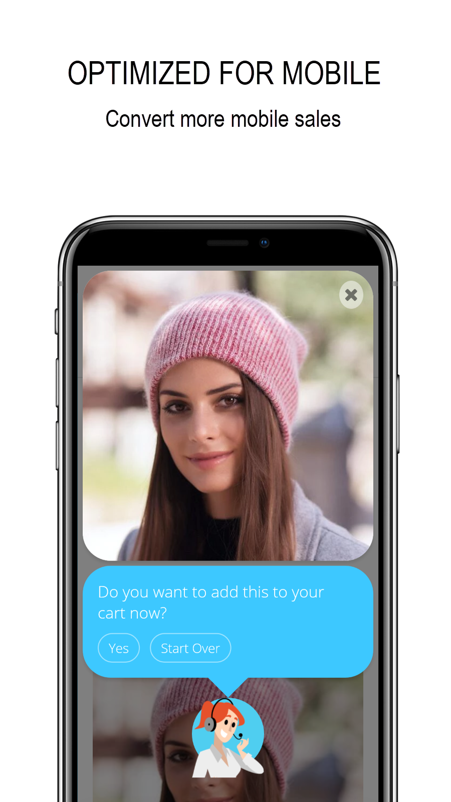 Responsive chat widget for mobile