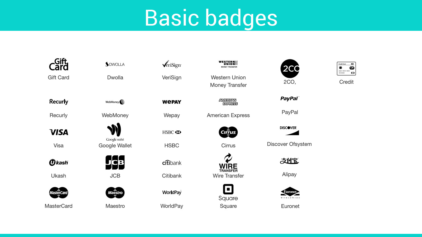 shopify payment badges