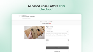 Post-checkout upsell