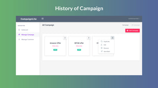 History of campaign