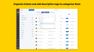 Organize tickets and add descriptive tags to categorize them