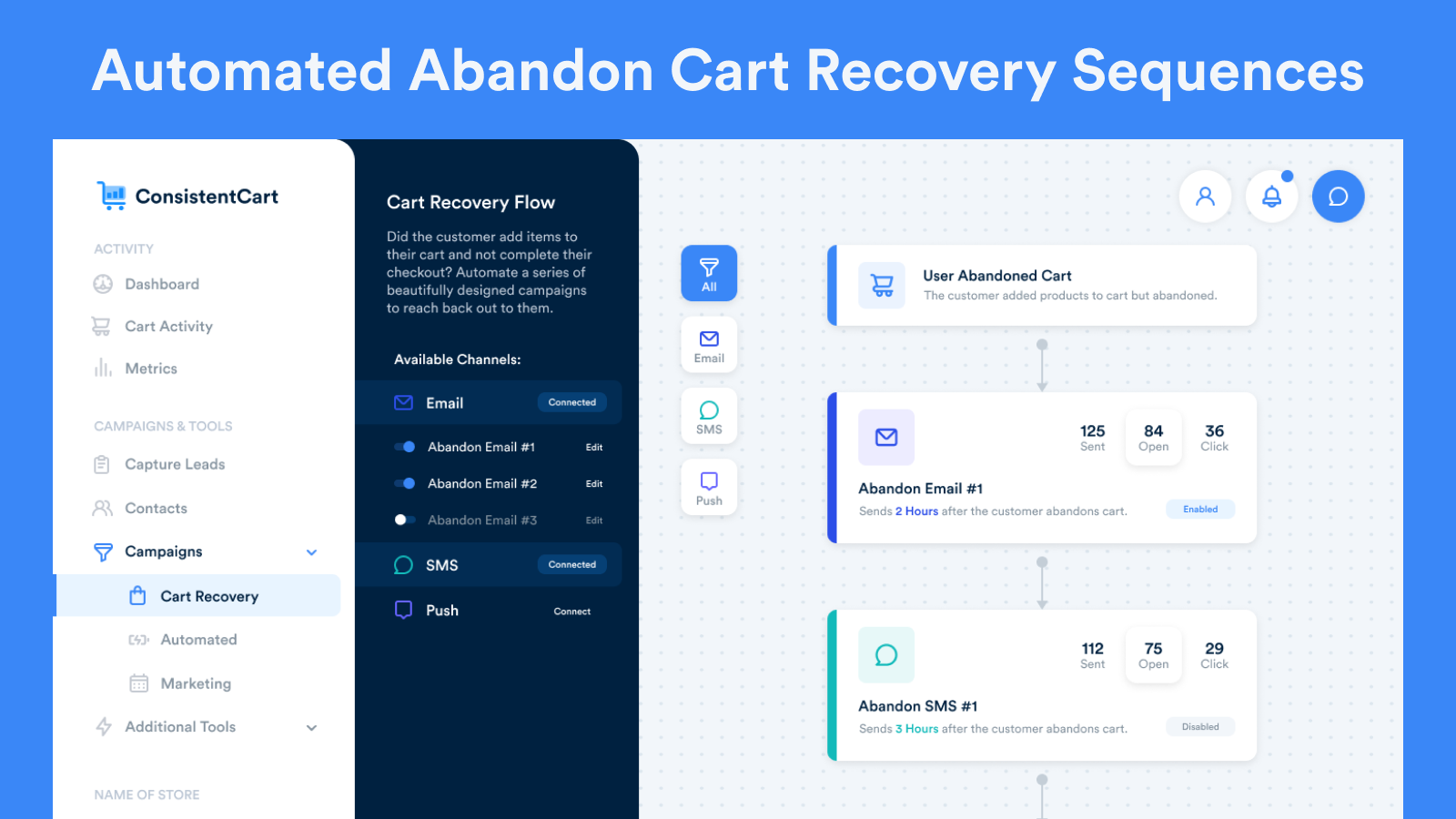 Automated Abandon Cart Recovery Sequences