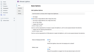 Ultimate Lightbox Options Page