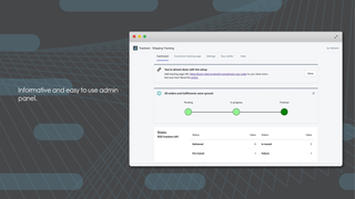 Informative and easy to use admin panel
