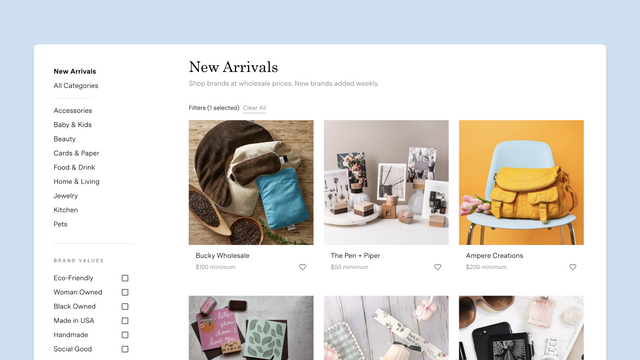 Shop New Arrivals - new brands added weekly