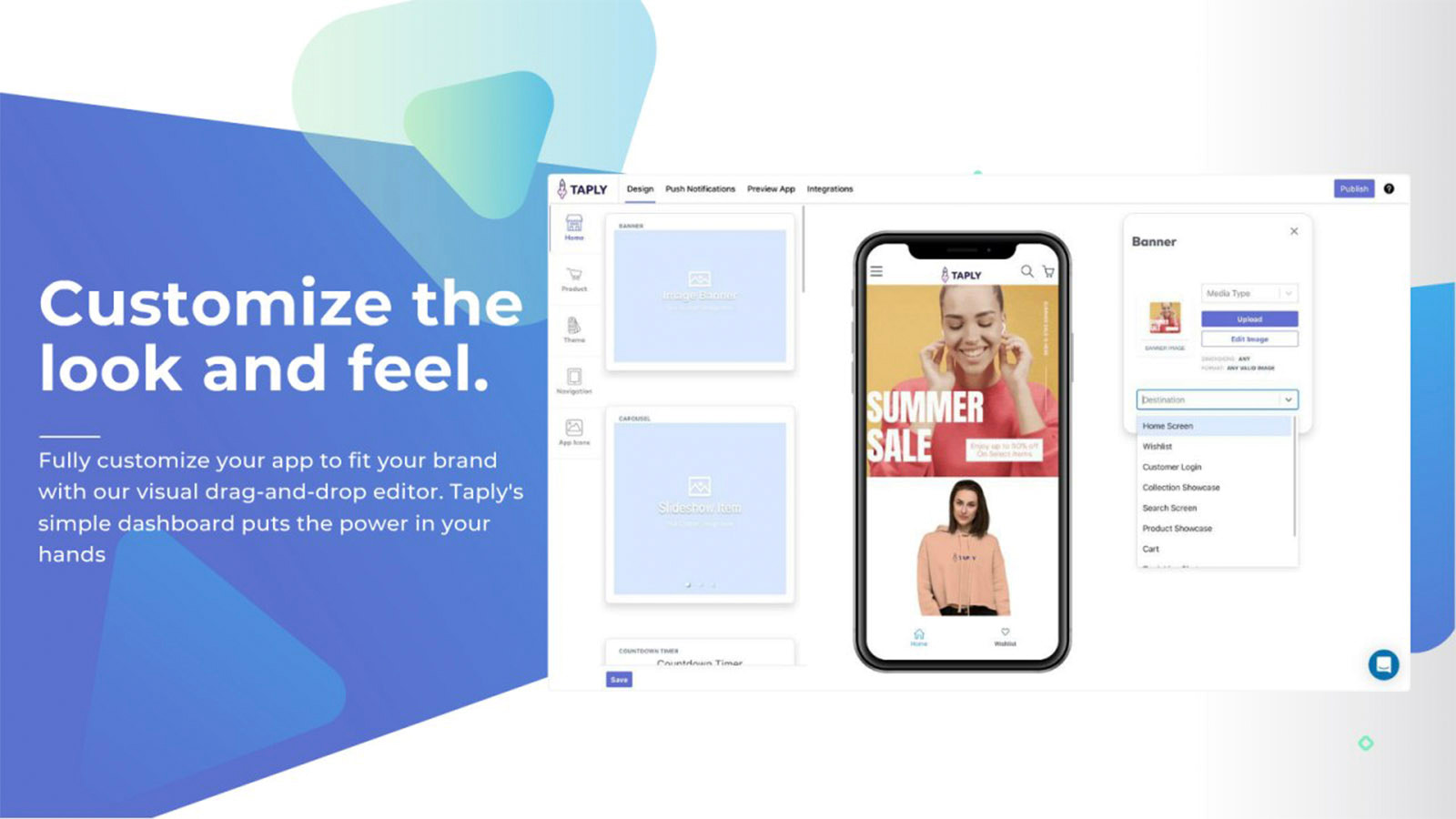 shopify drag and drop app builder