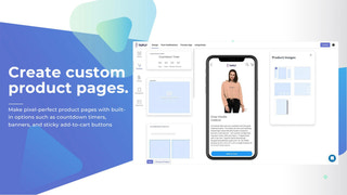 shopify app builder product page
