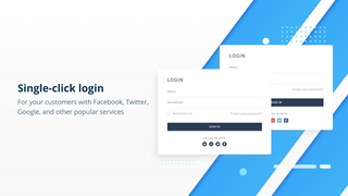Single click social login for your customers with Facebook, etc