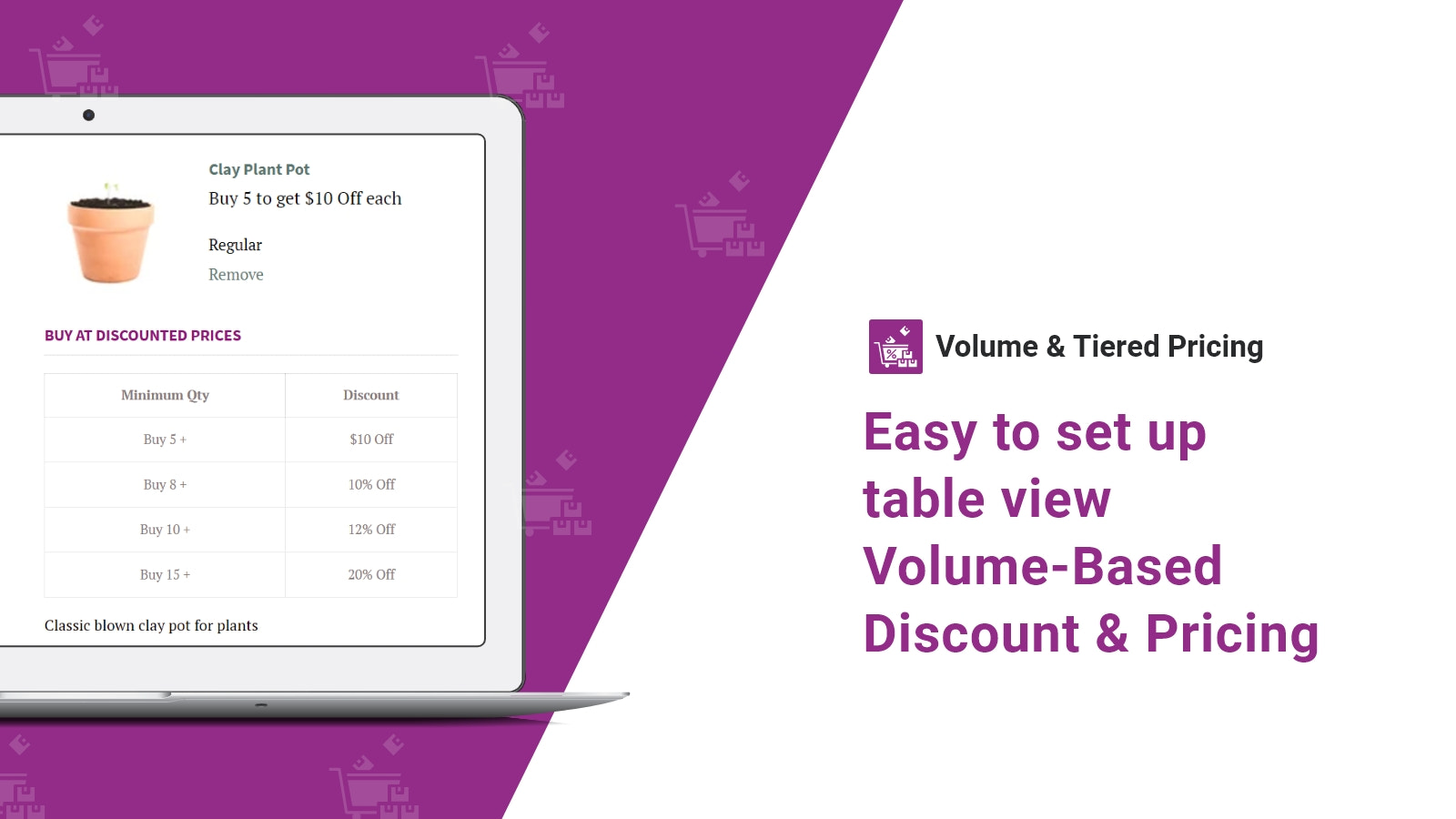 Discount in table view