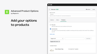 Add option to products