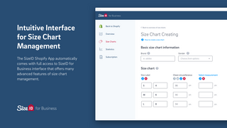 Intuitive Interface for Size Chart Management