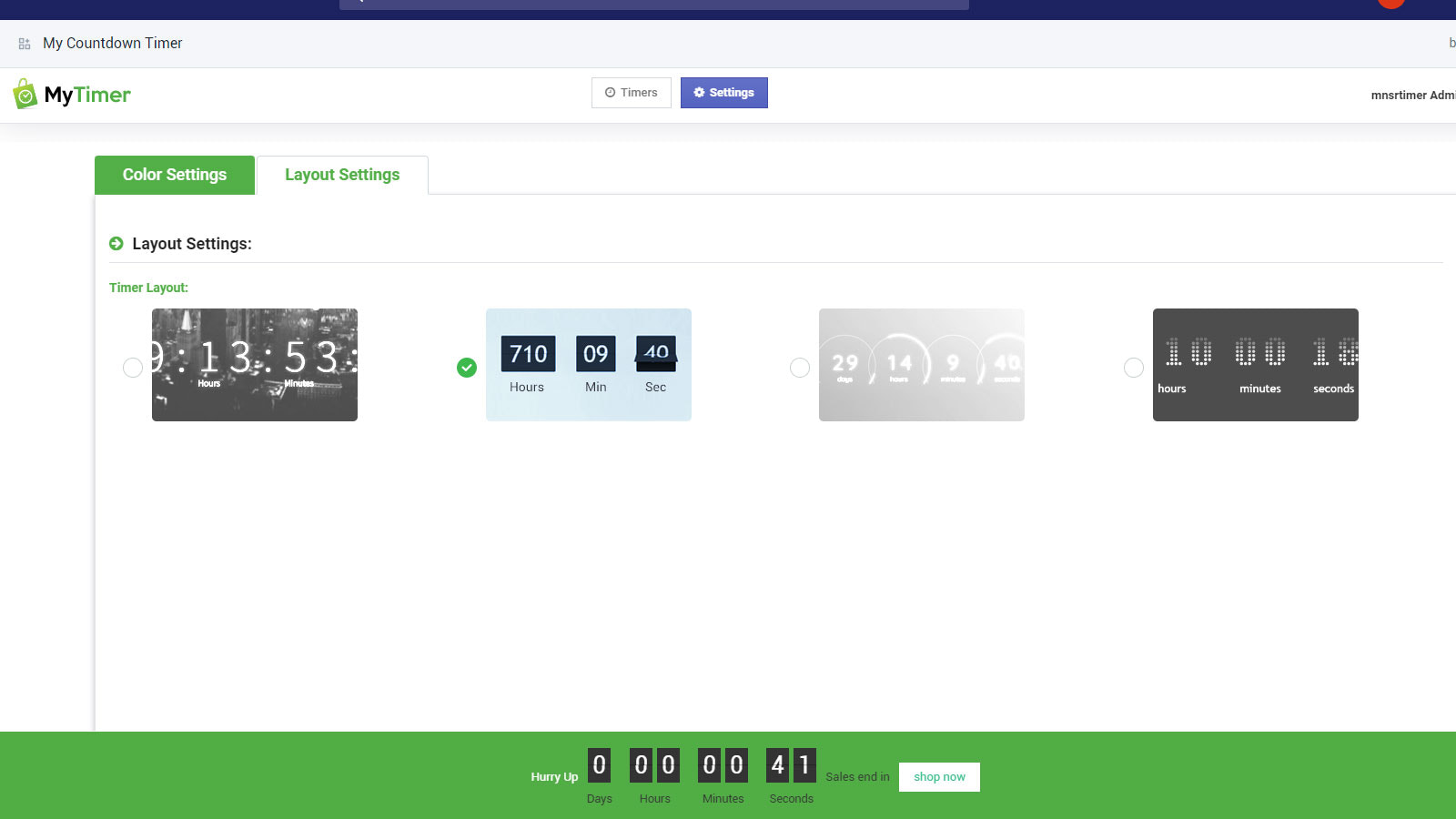Different and attractive styles of countdown timer bars