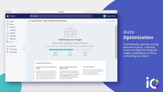 Shopify Image Optimizer - Automatically compress images