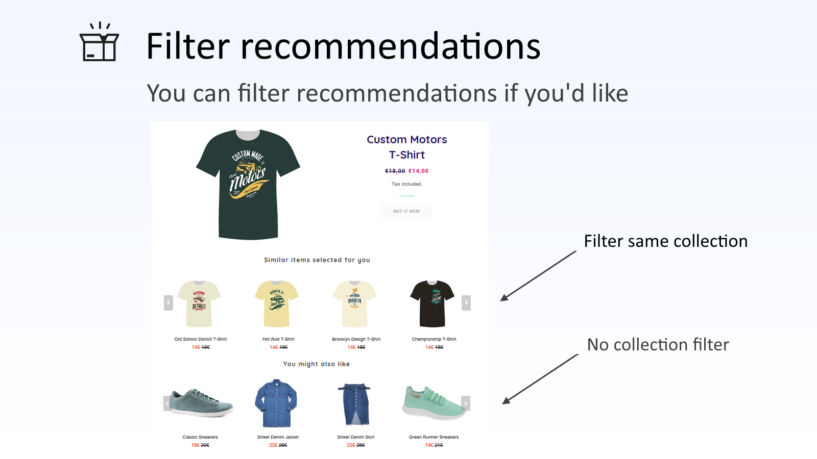 You have a great control of recommendatio results