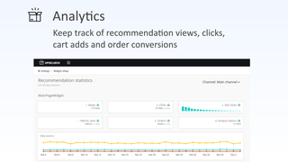 Analyze click stats and recommendation performance