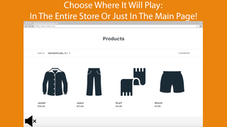 The app can work in the entire store or just in the main page