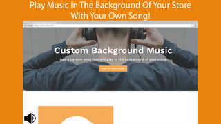 Play your own song in the background of your store!