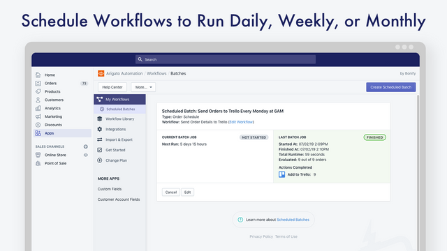 Schedule your workflows to run daily, weekly, or monthly