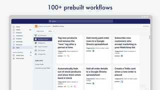 Over 100 prebuilt workflows
