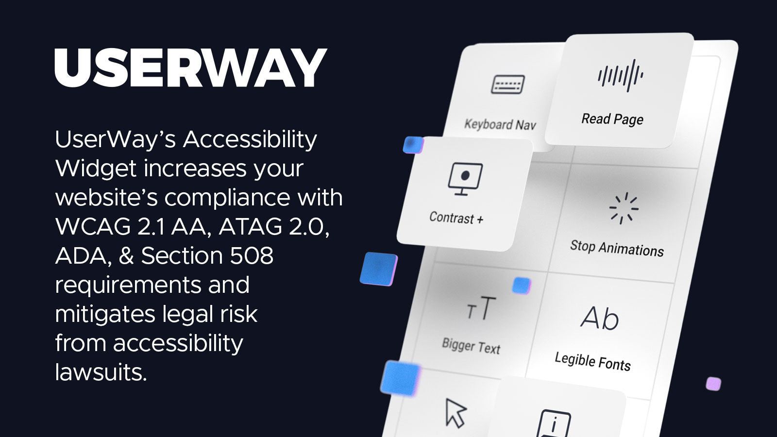 An illustration of UserWay's Accessibility Widget
